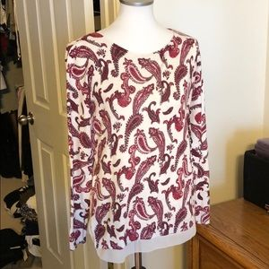 Lucky Brand Paisley sweater